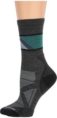 Smartwool PhD(r) Pro Approach Crew (Charcoal) Women's Crew Cut Socks Shoes