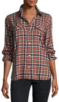 Current/Elliott The Perfect Long-Sleeve Shirt, Meadow Plaid