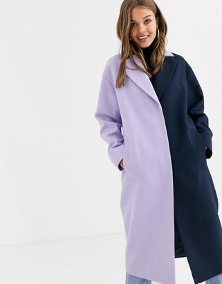 Asos Design DESIGN color block coat-Multi