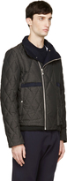 Moncler Gamme Bleu Grey Coated Quilted Down Jacket