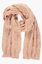Boohoo Alice Chunky Cable Knit Scarf