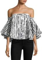 Milly Rosa Burnout Off-The-Shoulder Top