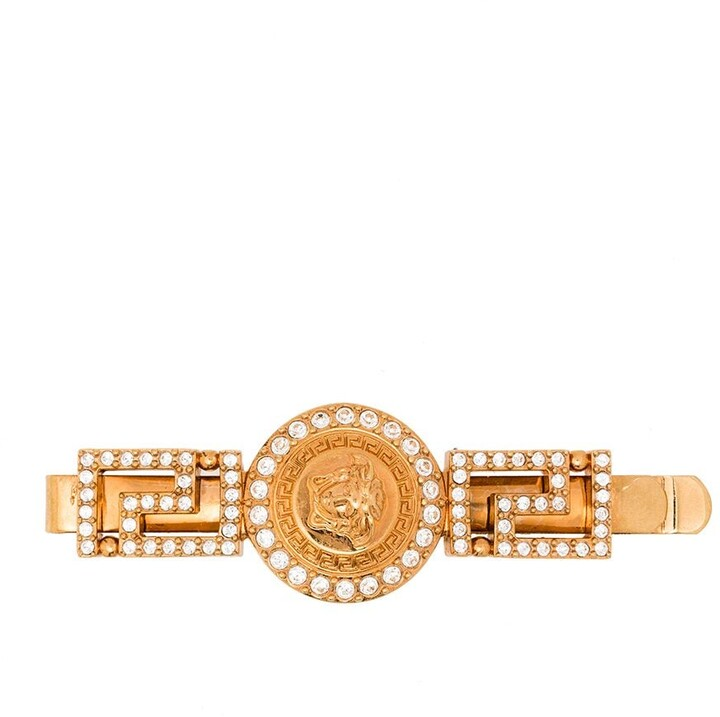 Thumbnail for your product : Versace Crystal Embellished Medusa Hairclip