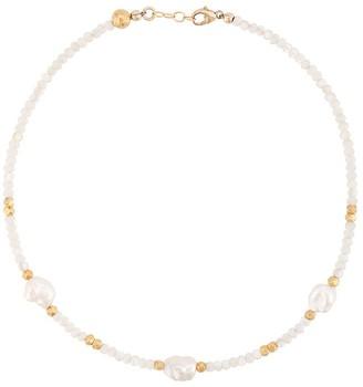 Nialaya Jewelry Beaded Pearl Choker