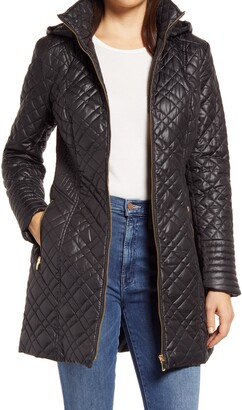 Via Spiga Quilted Hooded Coat