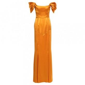 De La Vali Orange Silk Dress for Women