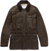 Kingsman - + Mackintosh Merlin Corduroy-trimmed Waxed-cotton Field Jacket
