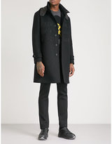 Fendi Embroidered-text Wool Parka Coat