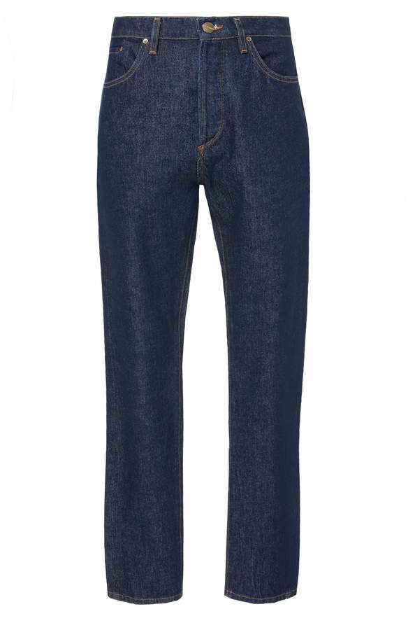 Gold Sign Benefit Mid-Rise Straight-Leg Jeans
