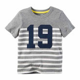 Carter's Boys Navy Yellow Stripe Rugby Tee