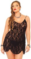 Leg Avenue Women's-Size 2 Piece Rose Lace Baby Doll and Matching Panty