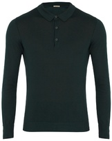 Bottega Veneta Long-sleeved Cotton-blend Polo Shirt