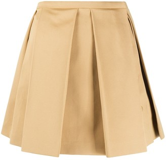 Courreges pleated A-line skirt
