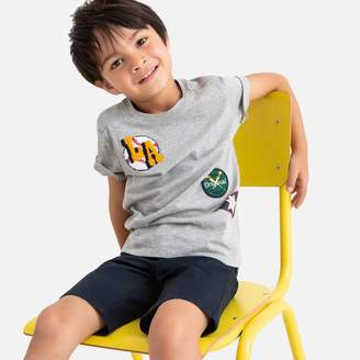 La Redoute Collections Cotton Baseball Badge T-Shirt, 3-12 Years