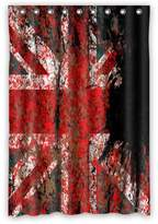 """the Union Jack Flag on the Brick Wall Shower Curtain (48"""" x 72"""" ) with 9 holes"""