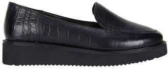 Jane Debster Jane Debster Vista Black Croc Flatform Loafer