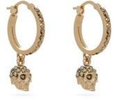 Alexander McQueen Crystal Skull Single Hoop Earrings - Womens - Gold