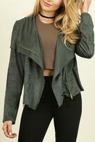 Umgee USA Faux-Suede Moto Jacket