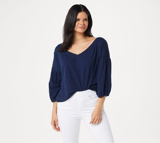 Rachel Hollis Ltd Slub Peasant Top
