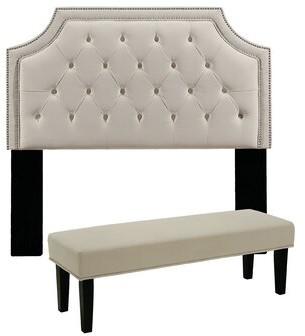 BEIGE Devitt Upholstered Panel Headboard Darby Home Co Size: Full/Queen, Color