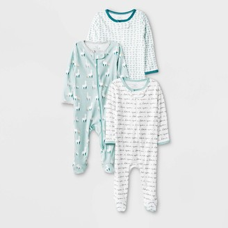 N. Baby 3pk Llama Love Zip Sleep N' Play Pajama - Cloud IslandTM
