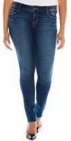 Plus Size Women's Slink Jeans Raw Hem Skinny Jeans