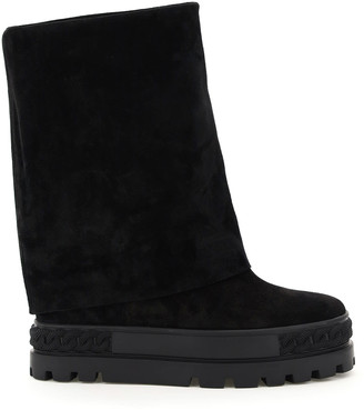 Casadei Mountain Reindeer Leather Foldable Boots