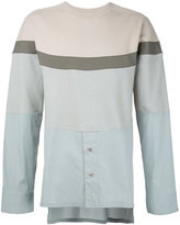 General Idea colour block shirt panel sweatshirt - men - Cotton - 46