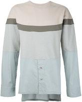 General Idea colour block shirt panel sweatshirt