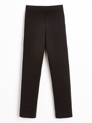 Very Girls 2 Pack Jersey School Trouser - Black