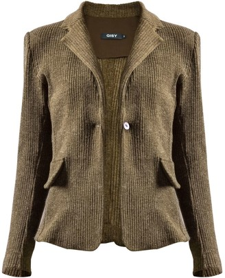 Gisy Fern Wool & Canvas Blazer