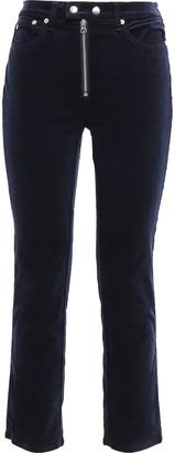 Rag & Bone Dojo Cropped Cotton-blend Velvet Slim-leg Pants
