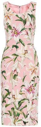 Dolce & Gabbana Floral cady-crepe dress