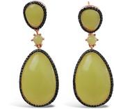 Bellus Domina Sterling Silver Lemon Jade Earrings