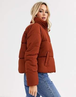 JDY padded jacket in rust-Brown