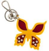 Prada Studded Butterfly Keychain