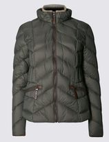 Marks and Spencer Long Sleeve Down and Feather 90/10 Padded Jacket