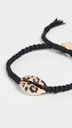 Venessa Arizaga Leopard Print Shell Bracelet