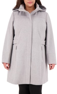 Vince Camuto Plus Size Hooded Coat