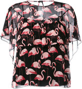 RED Valentino flamingo print blouse - women - Silk/Polyester - 42