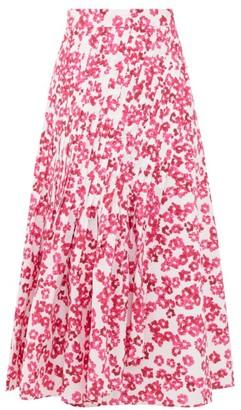 Merlette New York Almijara Floral-print Cotton Midi Wrap Skirt - Pink Print
