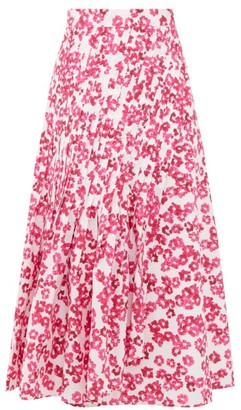Merlette New York Almijara Floral-print Cotton Midi Wrap Skirt - Womens - Pink Print