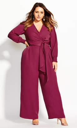 City Chic Synthesis Jumpsuit - rose