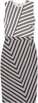 Altuzarra Desdemona Striped Wool-blend Dress - Black