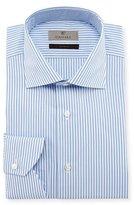 Canali Striped Dress Shirt, White/Blue