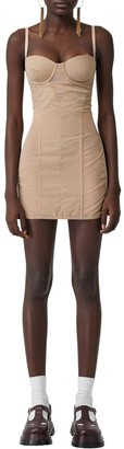 Burberry Tulle & Cotton Mini Dress