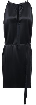 Nili Lotan Jamie Silk-satin Halterneck Dress