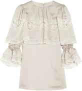 Dolce & Gabbana Duchess lace-trimmed silk-satin top