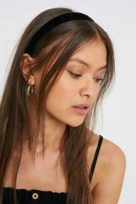Urban Outfitters Velvet Wrap Headband - black at
