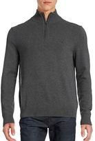 Nautica Quarter-Zip Pima Cotton Blend Sweater